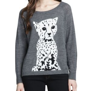 French Connection Wool Cheetah Sweater